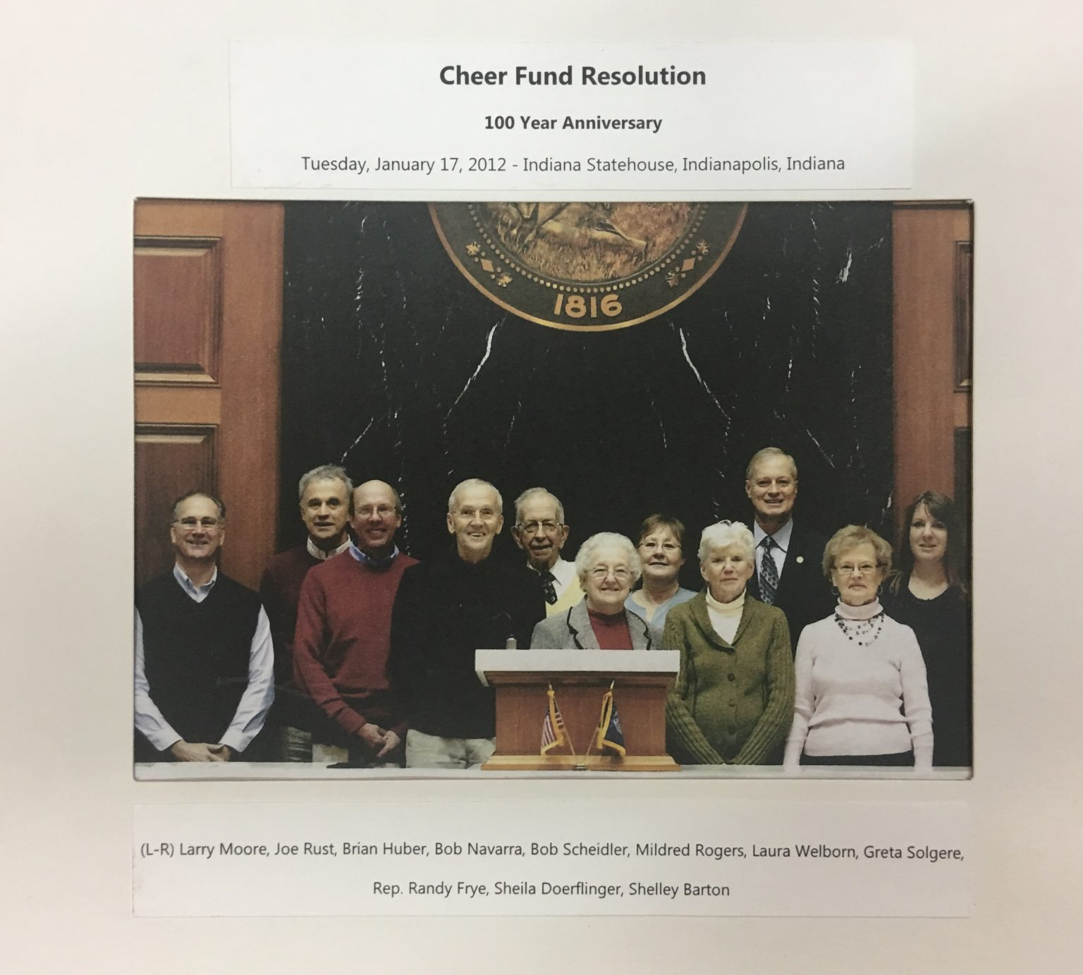 Cheer Fund 100 Year Reunion